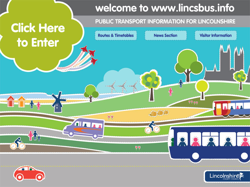 Lincsbus.info home page graphic